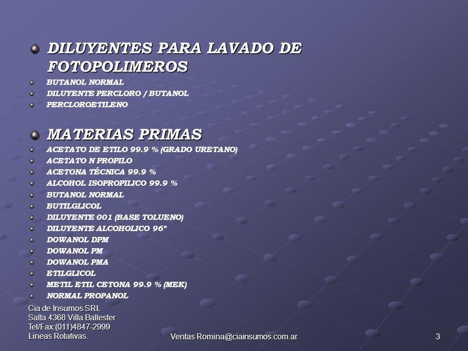 Ventas Romina@ciainsumos.com.ar