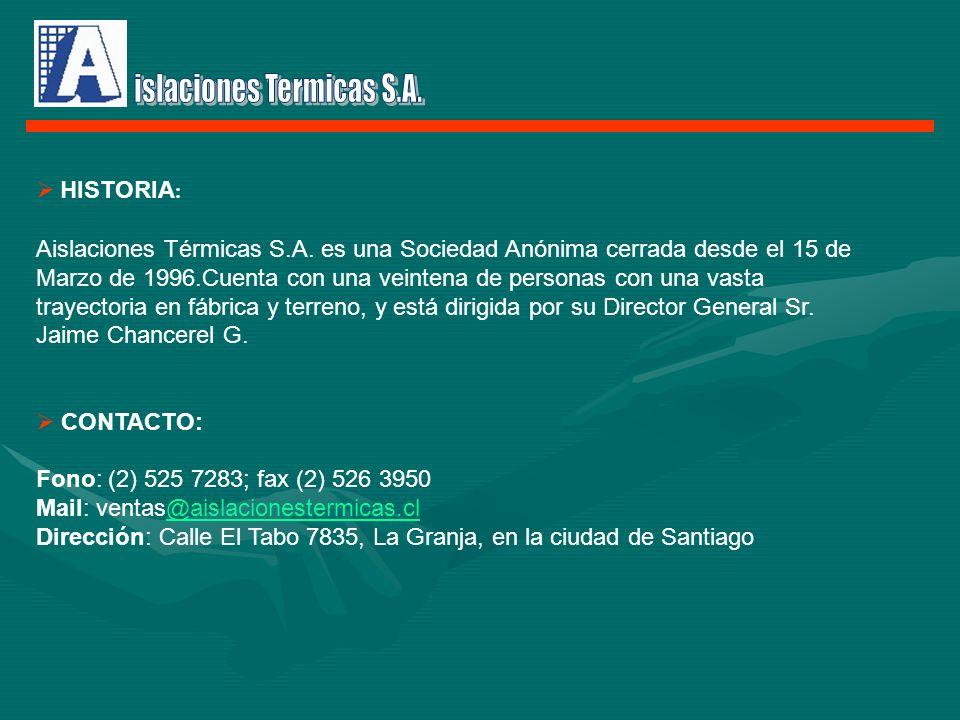 islaciones Termicas S.A.