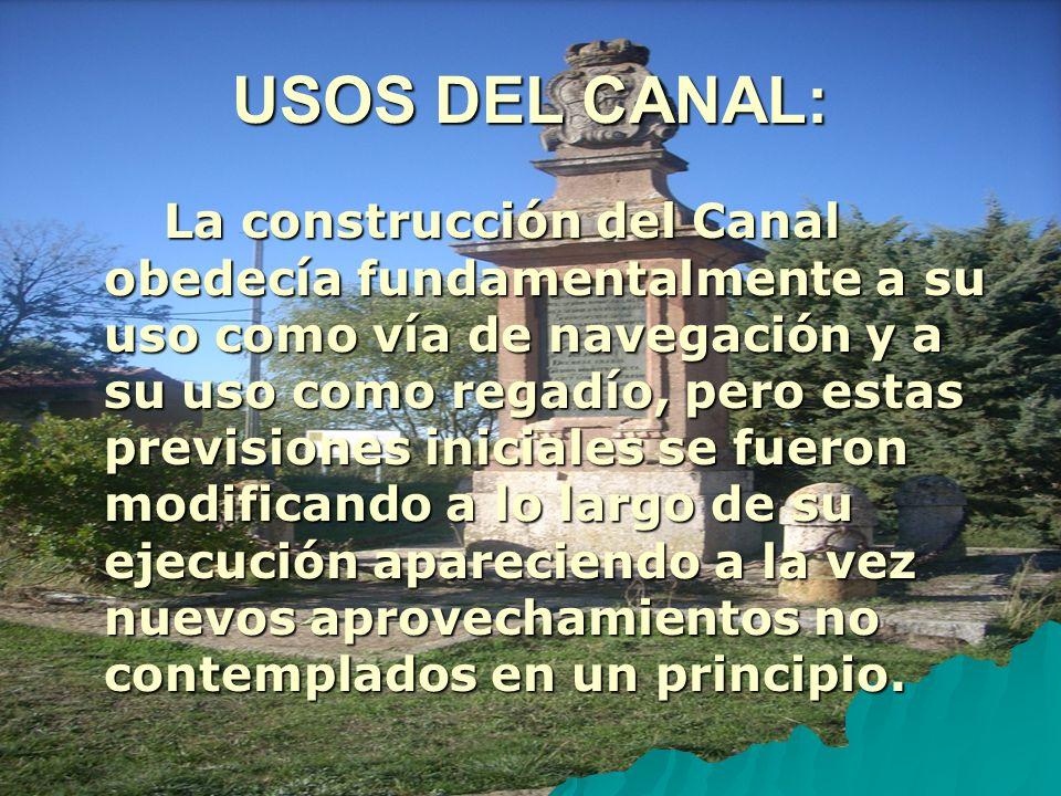 USOS DEL CANAL: