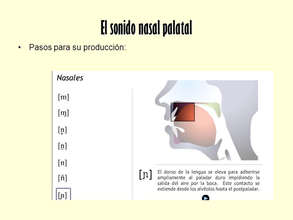 El sonido nasal palatal