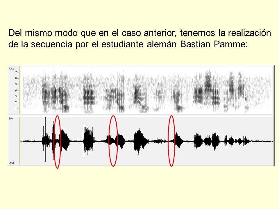 Del mismo modo que en el caso anterior, tenemos la realización de la secuencia por el estudiante alemán Bastian Pamme:
