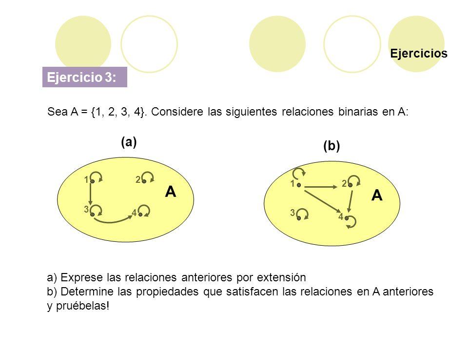 A A Ejercicio 3: (a) (b) Ejercicios