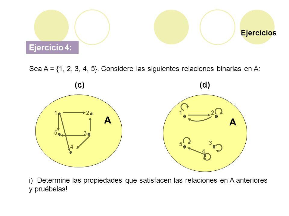 A A Ejercicio 4: (c) (d) Ejercicios