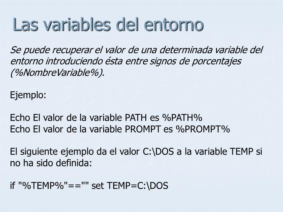 Las variables del entorno