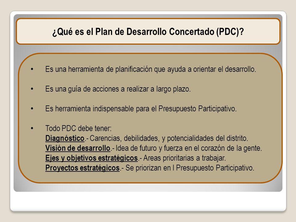 ¿Qué es el Plan de Desarrollo Concertado (PDC)