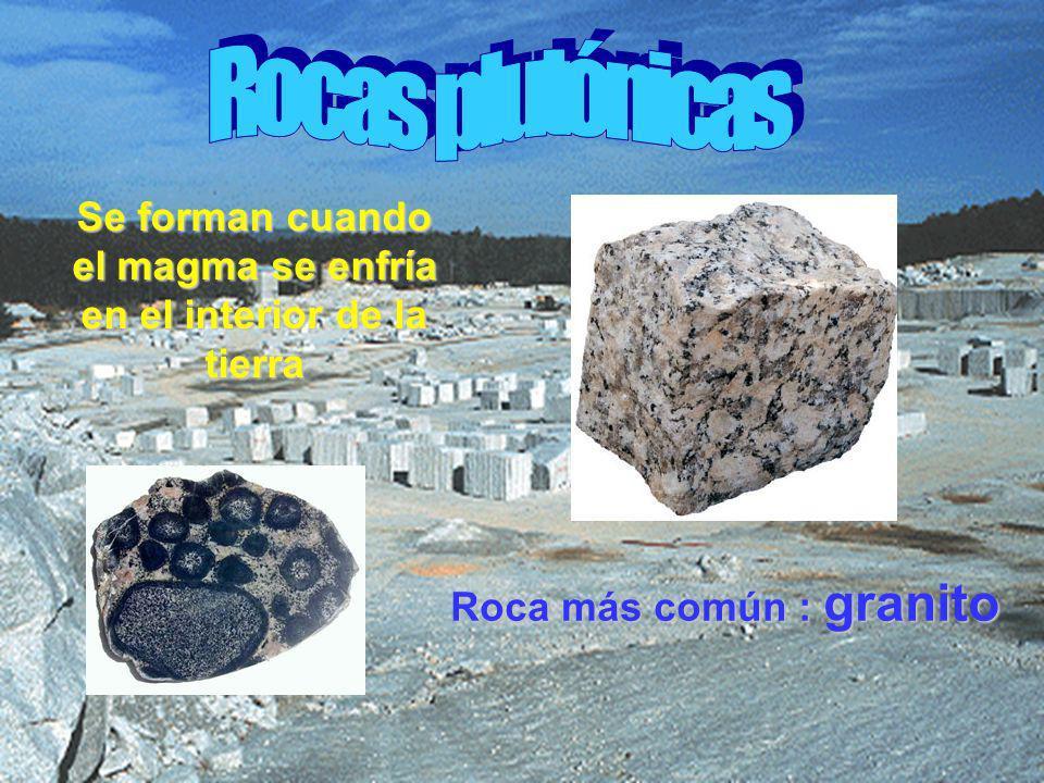 Se forman cuando el magma se enfría en el interior de la tierra