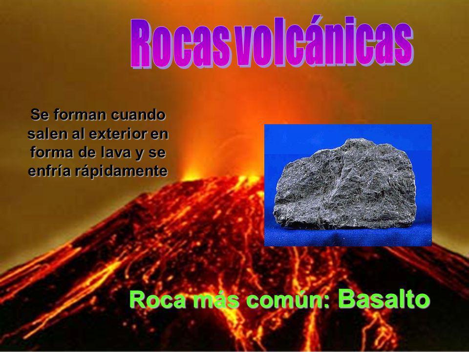 Roca más común: Basalto
