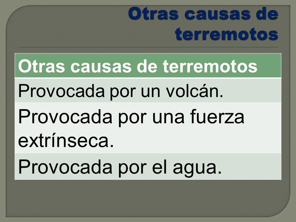 Otras causas de terremotos