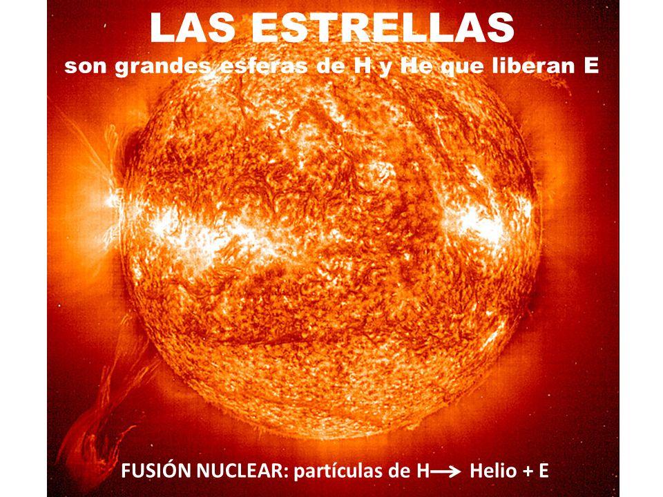 LAS ESTRELLAS son grandes esferas de H y He que liberan E