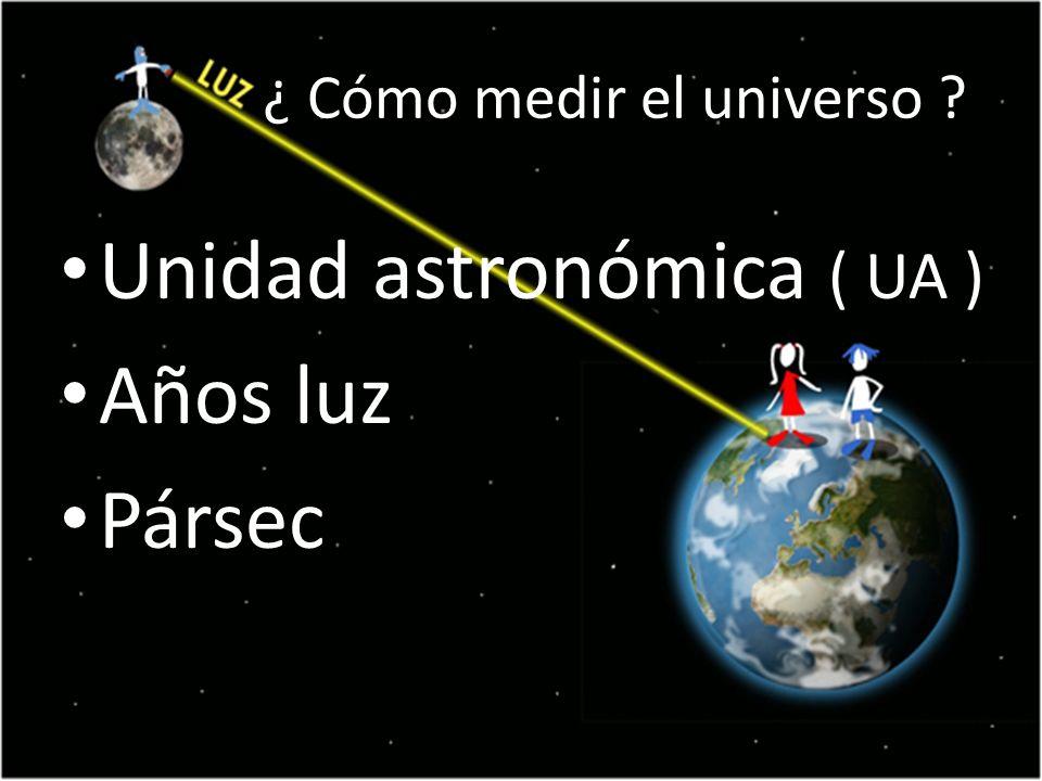 ¿ Cómo medir el universo