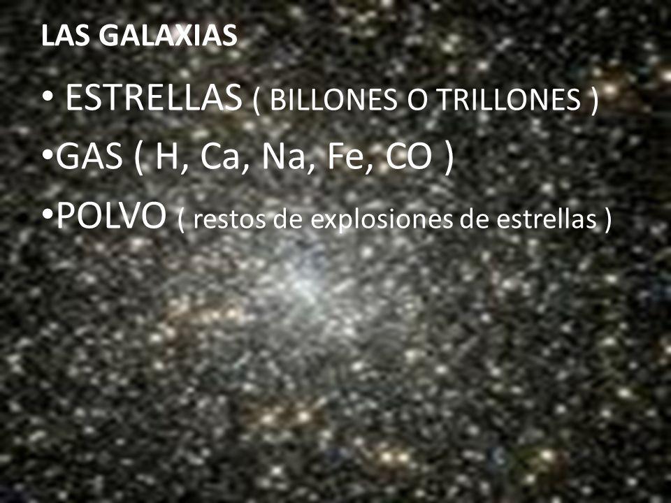 ESTRELLAS ( BILLONES O TRILLONES ) GAS ( H, Ca, Na, Fe, CO )