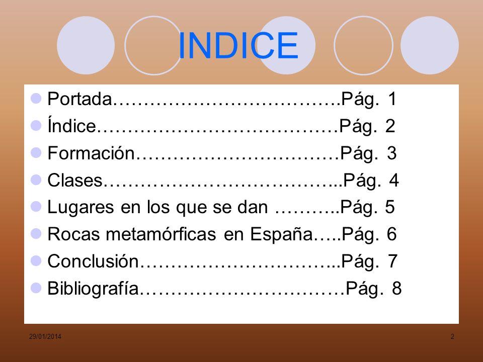 INDICE Portada……………………………….Pág. 1 Índice…………………………………Pág. 2