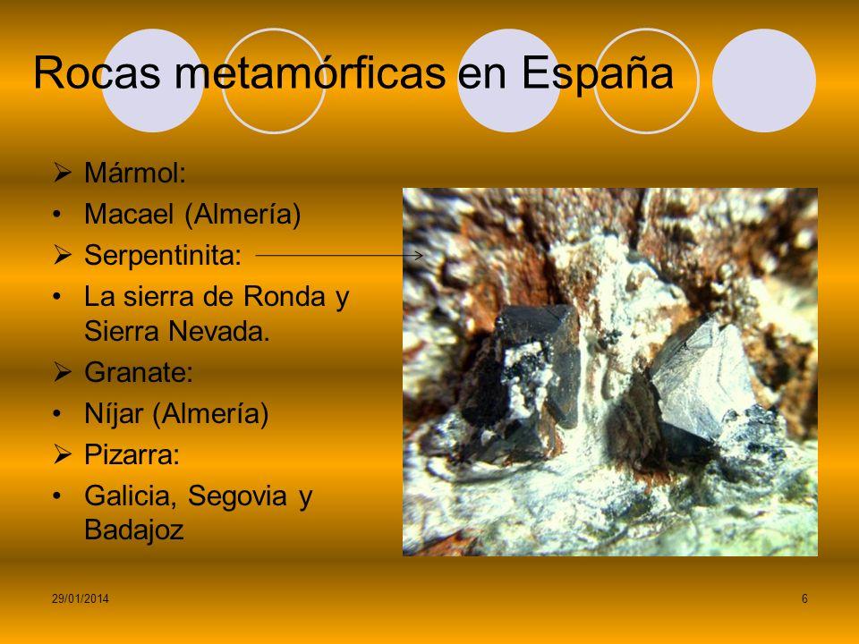 Rocas metamórficas en España