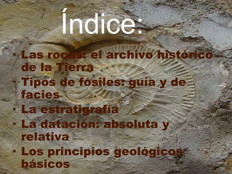 Índice: Las rocas: el archivo histórico de la Tierra
