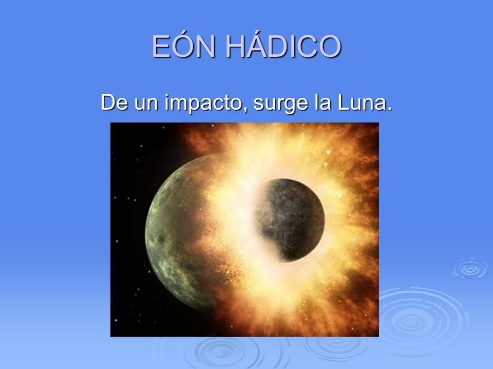 De un impacto, surge la Luna.