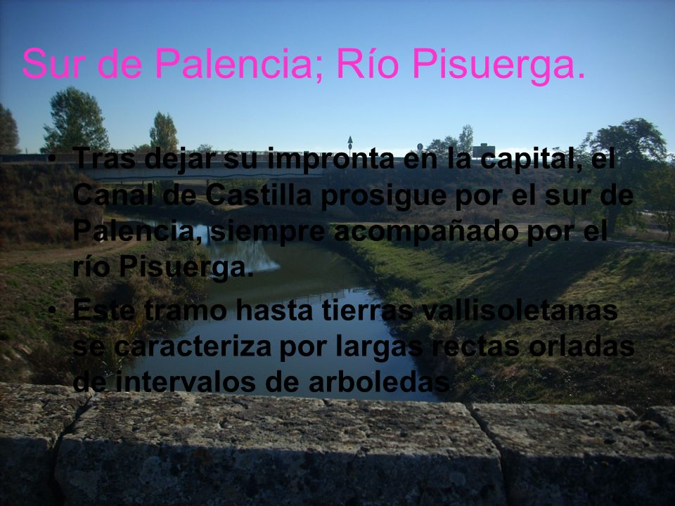 Sur de Palencia; Río Pisuerga.