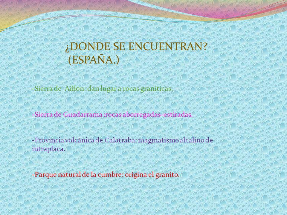 ¿DONDE SE ENCUENTRAN (ESPAÑA.)