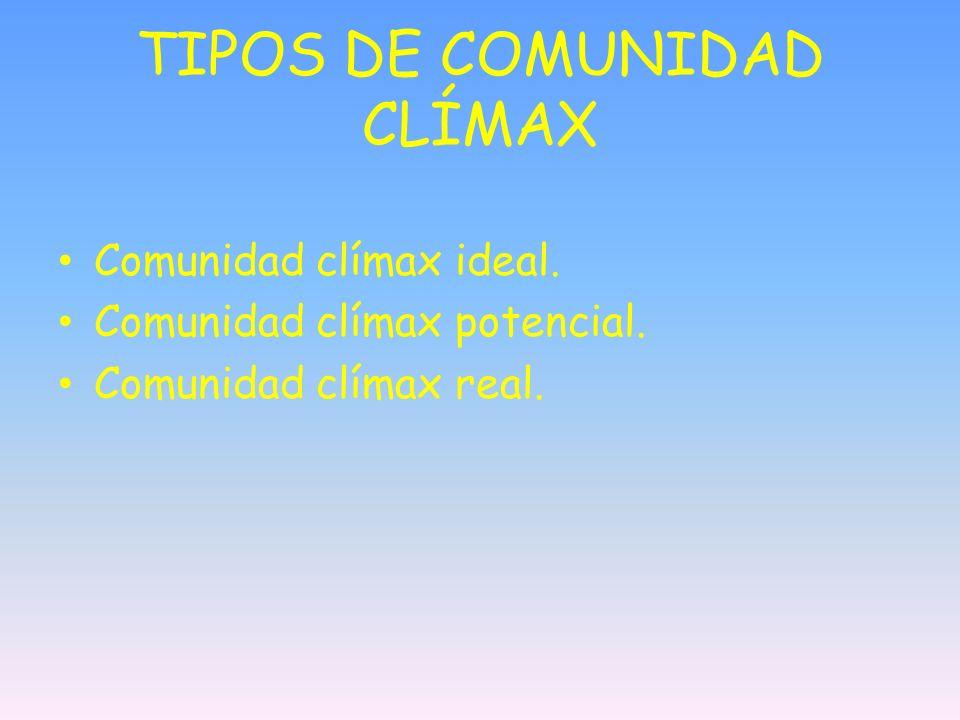 TIPOS DE COMUNIDAD CLÍMAX