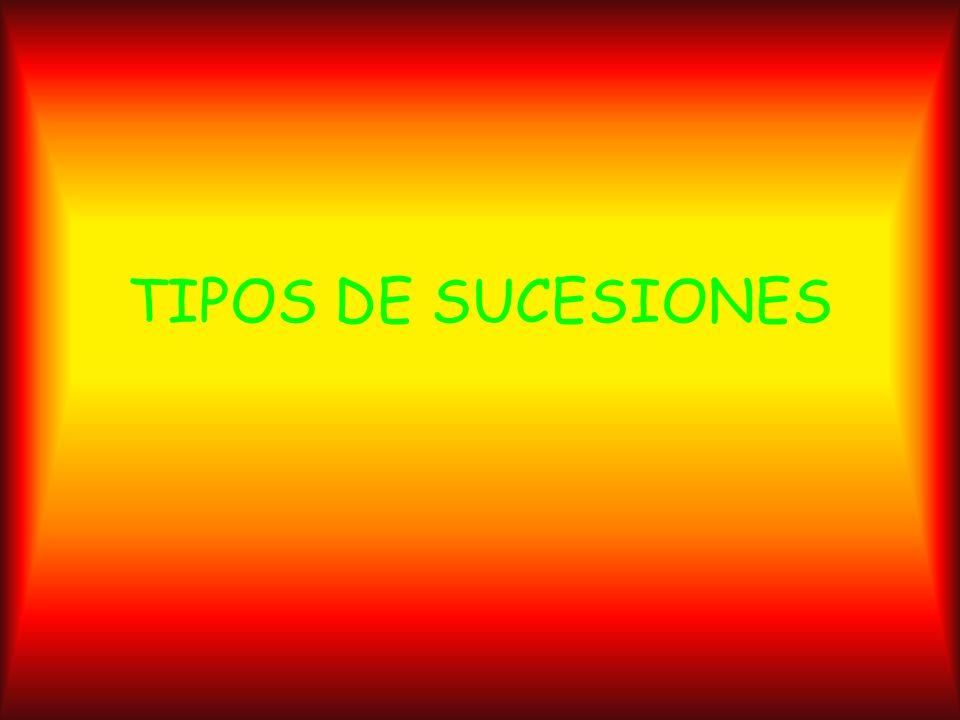 TIPOS DE SUCESIONES