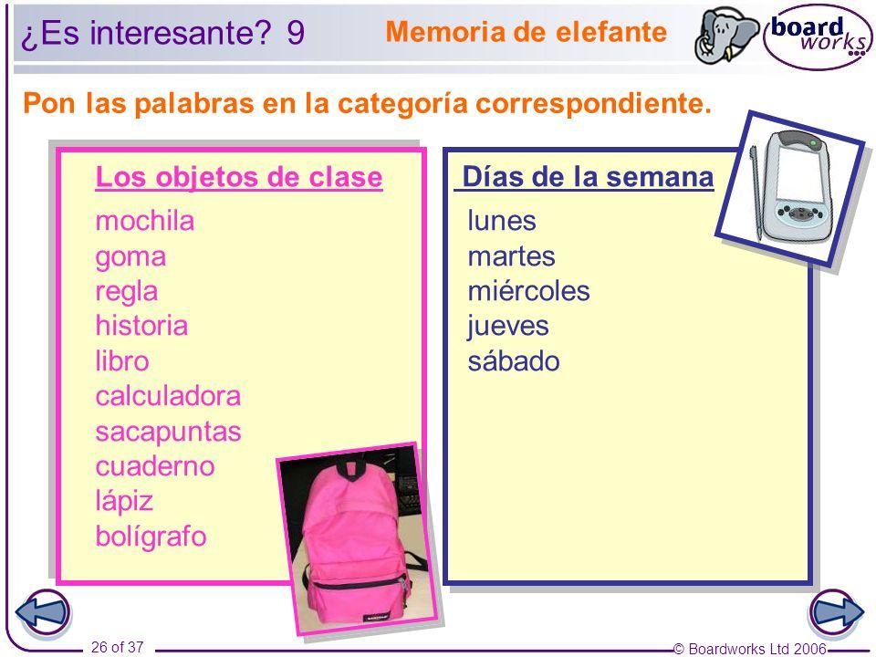 ¿Es interesante 9 Memoria de elefante