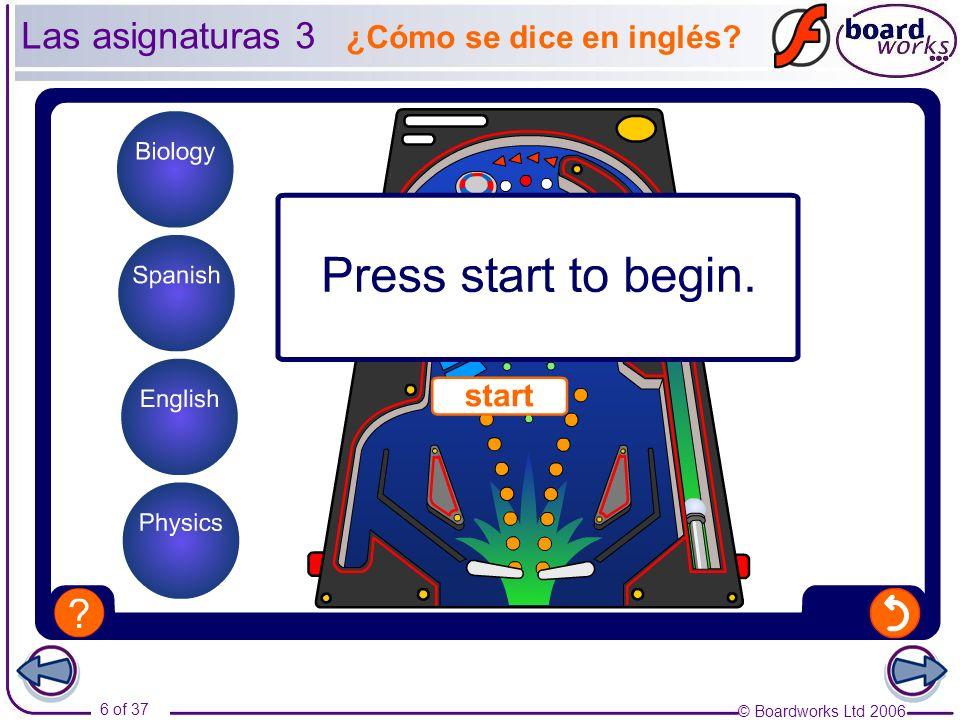 Las asignaturas 3 ¿Cómo se dice en inglés