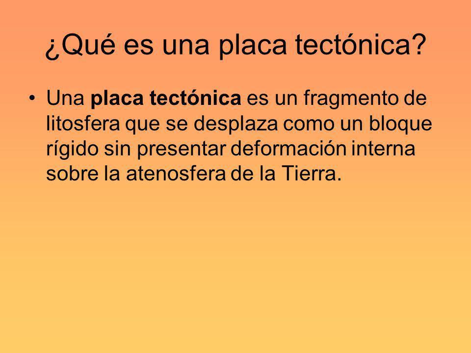 ¿Qué es una placa tectónica