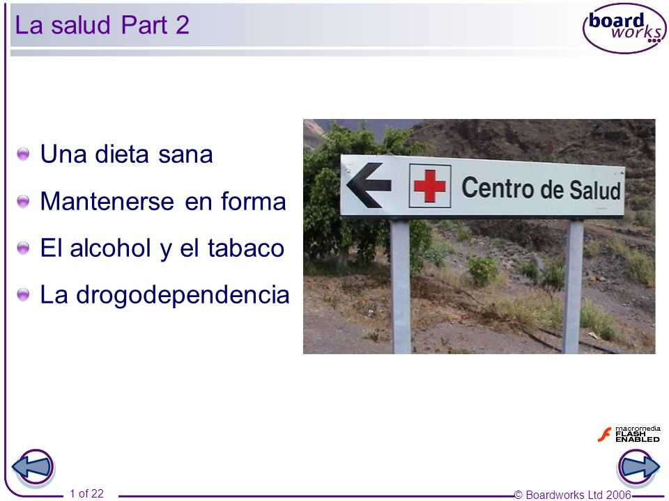 La salud Part 2 Una dieta sana Mantenerse en forma El alcohol y el tabaco La drogodependencia