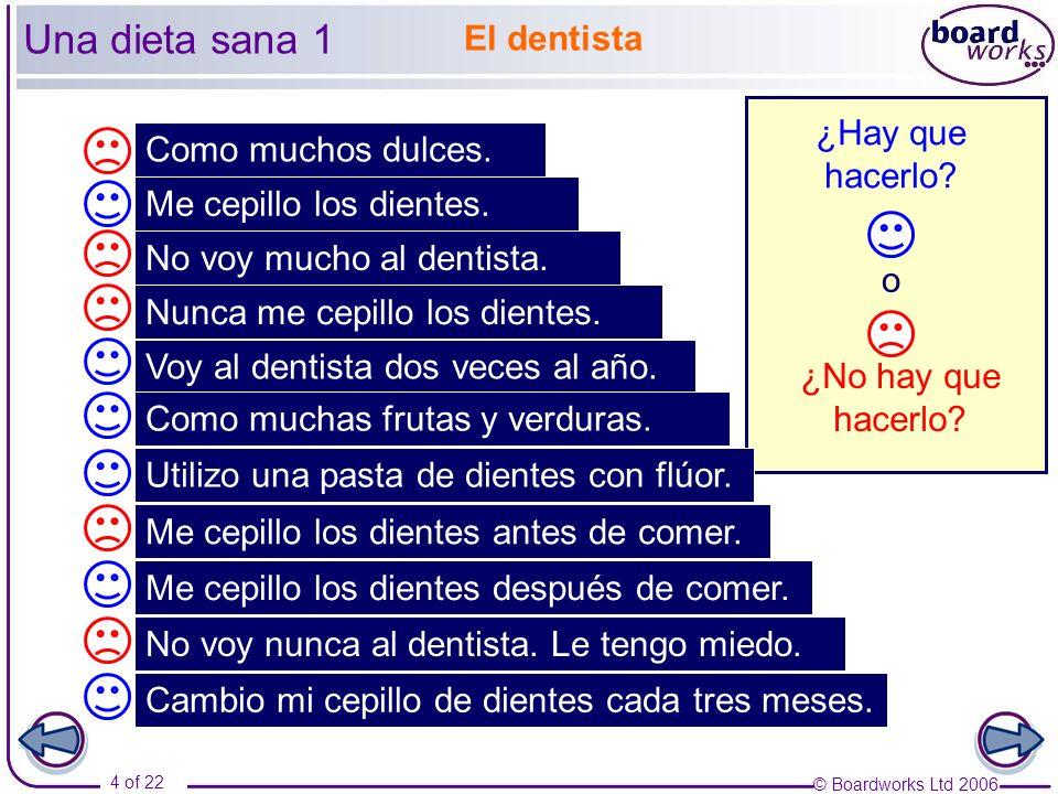 Una dieta sana 1 El dentista ¿Hay que hacerlo Como muchos dulces.