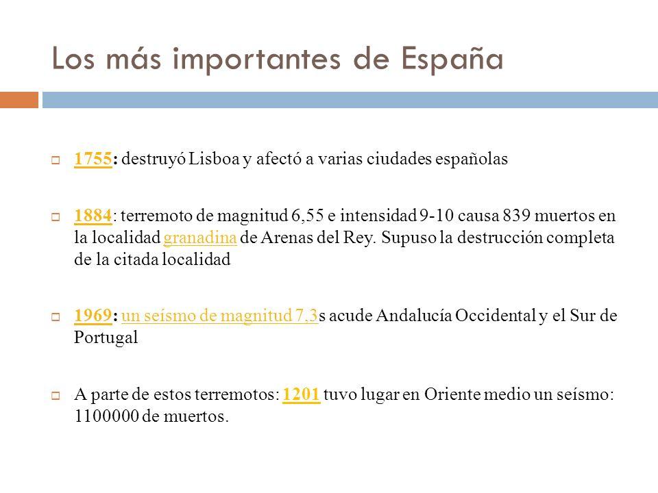 Los más importantes de España