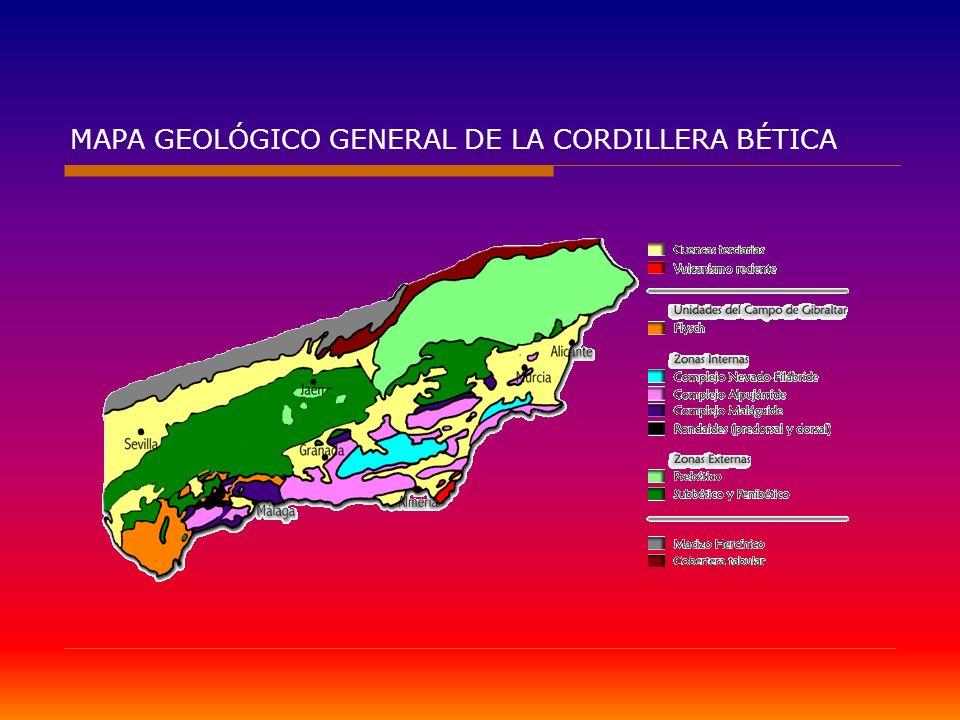 MAPA GEOLÓGICO GENERAL DE LA CORDILLERA BÉTICA