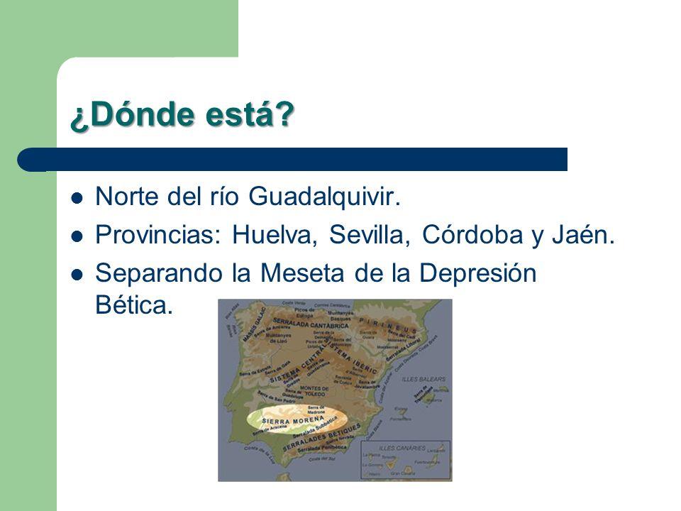 ¿Dónde está Norte del río Guadalquivir.