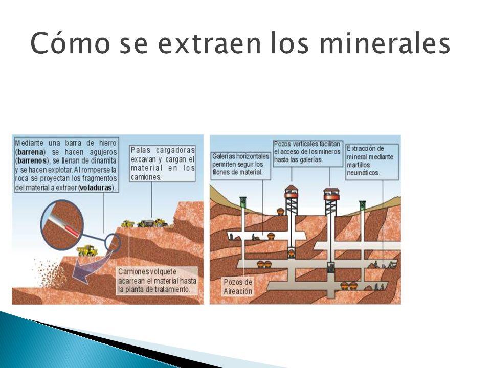 Cómo se extraen los minerales