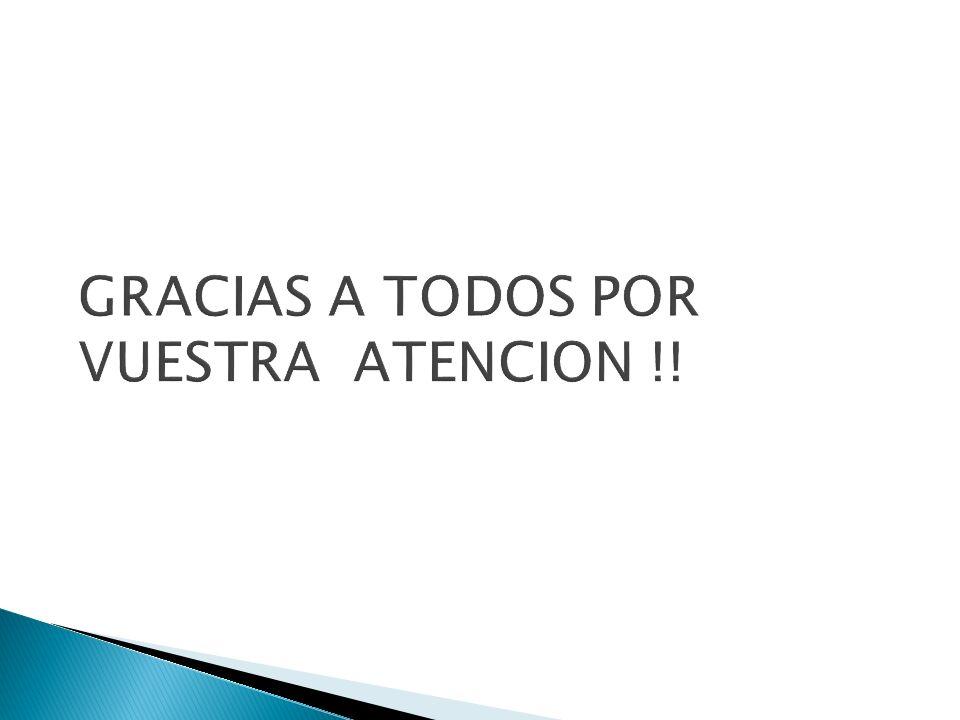 GRACIAS A TODOS POR VUESTRA ATENCION !!