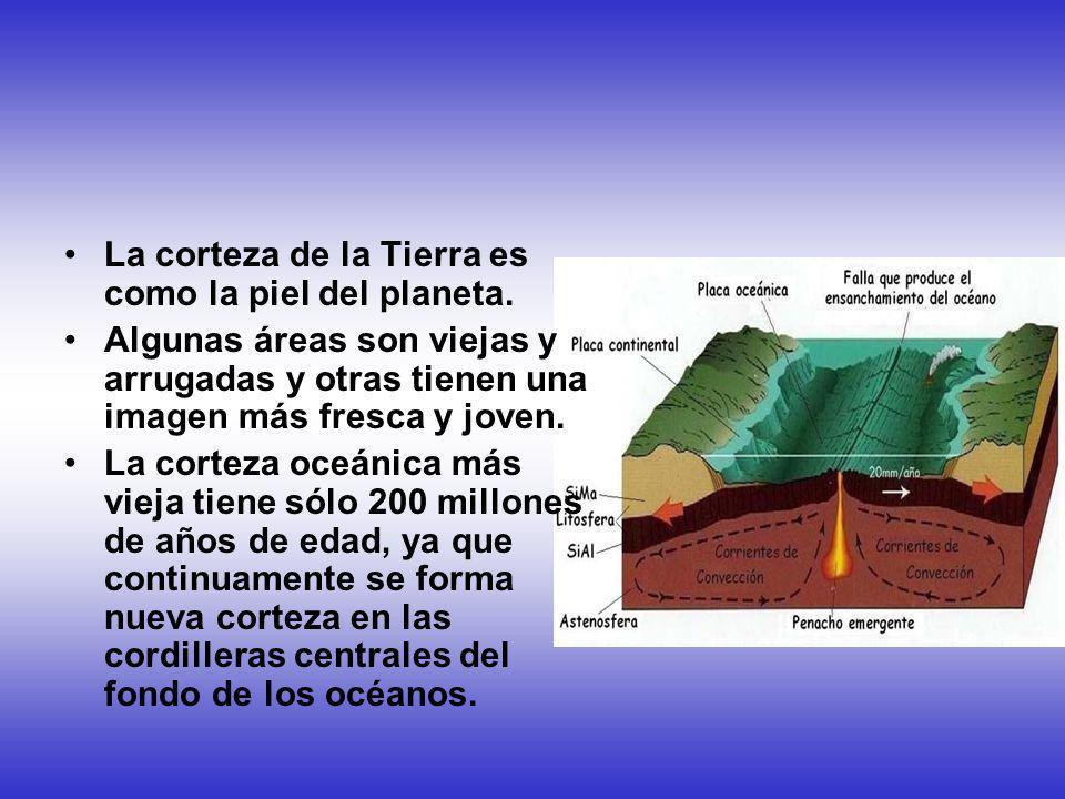 La corteza de la Tierra es como la piel del planeta.