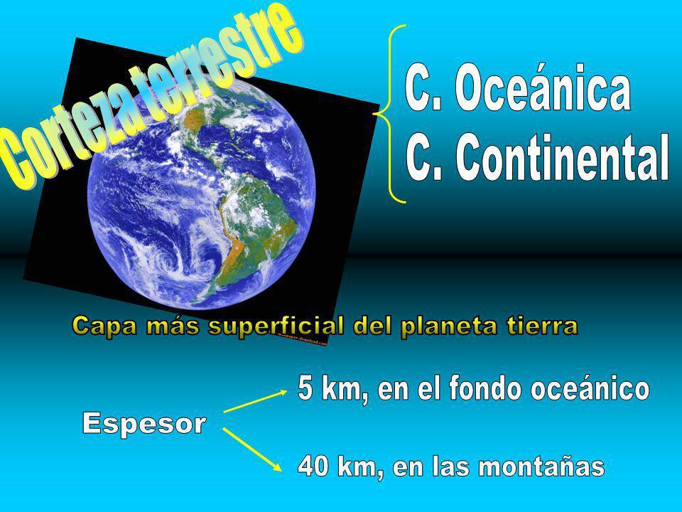 Capa más superficial del planeta tierra