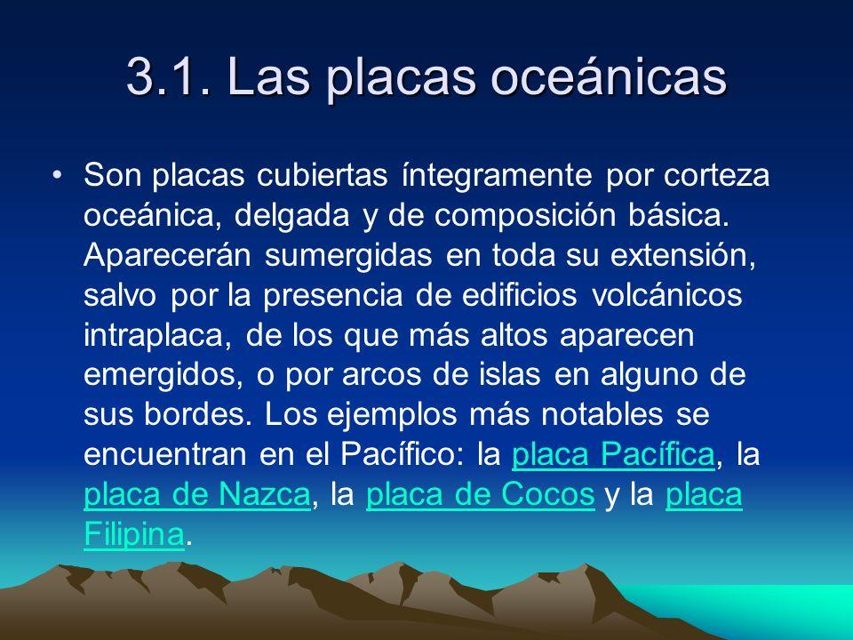 3.1. Las placas oceánicas