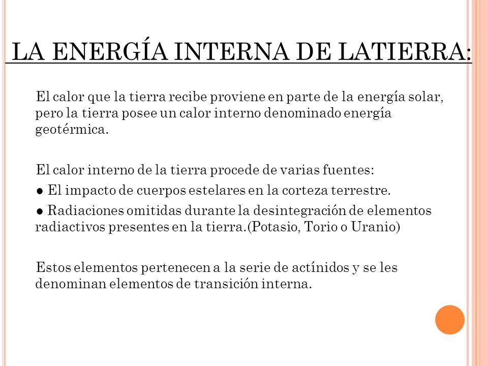 LA ENERGÍA INTERNA DE LATIERRA:
