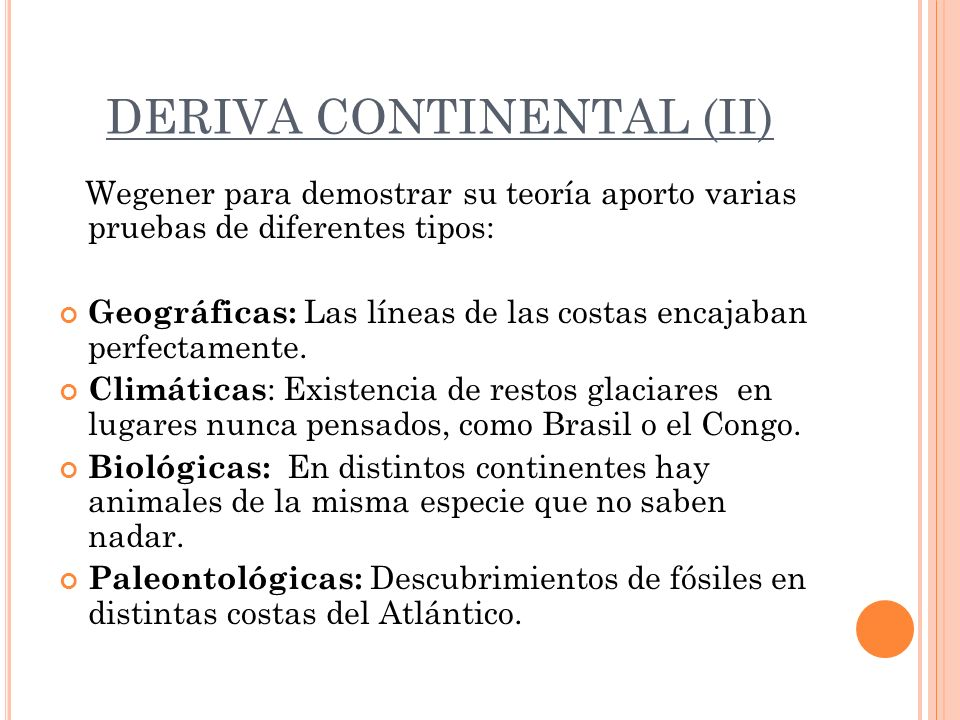 DERIVA CONTINENTAL (II)