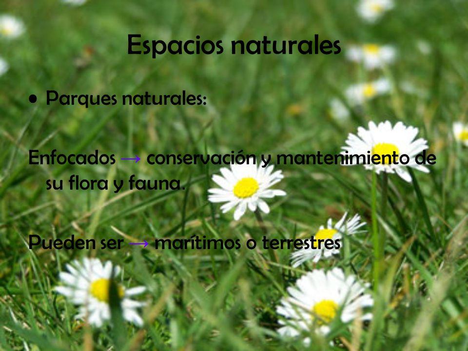 Espacios naturales Parques naturales: