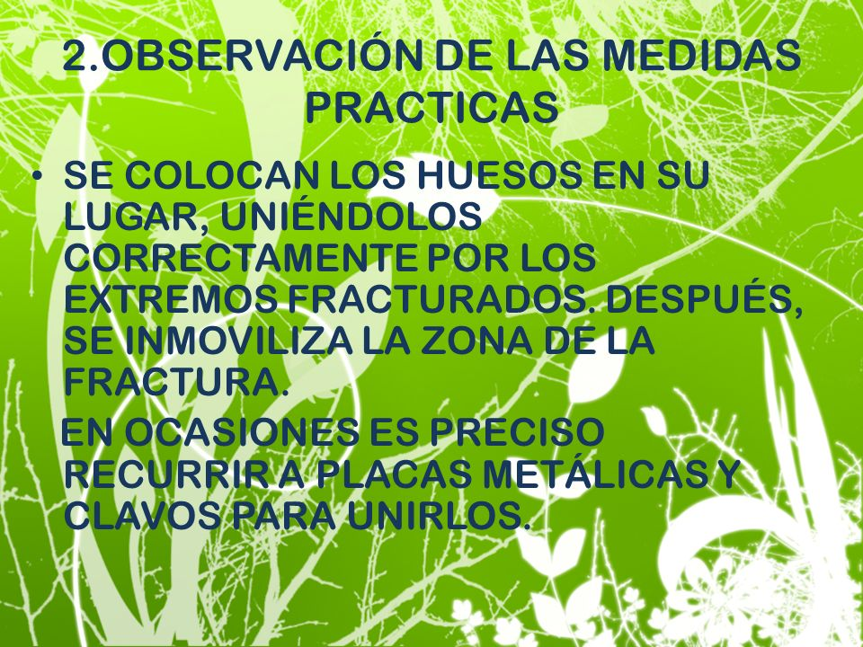 2.OBSERVACIÓN DE LAS MEDIDAS PRACTICAS