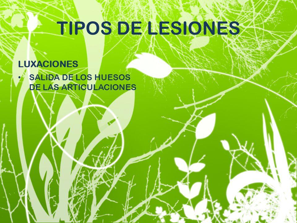 TIPOS DE LESIONES LUXACIONES