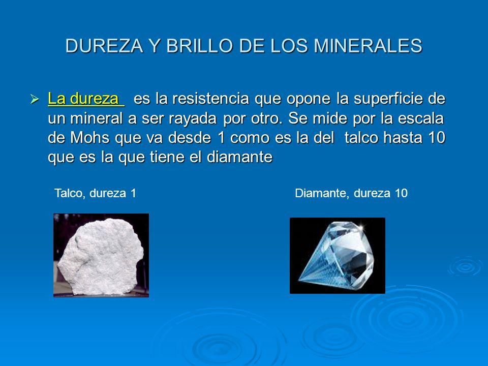 DUREZA Y BRILLO DE LOS MINERALES