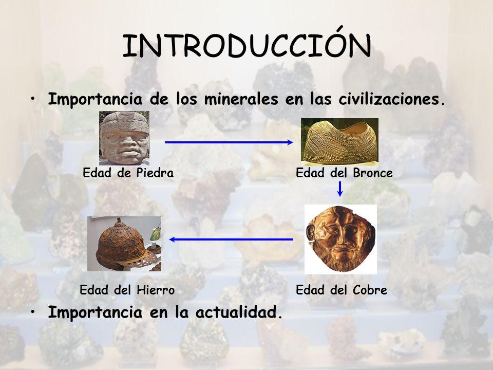 INTRODUCCIÓN Importancia de los minerales en las civilizaciones.