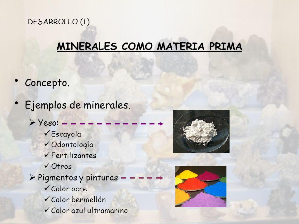 MINERALES COMO MATERIA PRIMA
