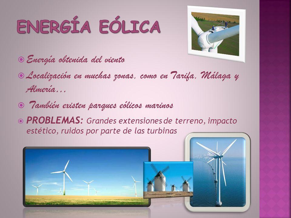 Energía eólica Energía obtenida del viento