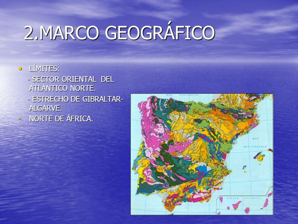 2.MARCO GEOGRÁFICO LÍMITES: - SECTOR ORIENTAL DEL ATLÁNTICO NORTE.