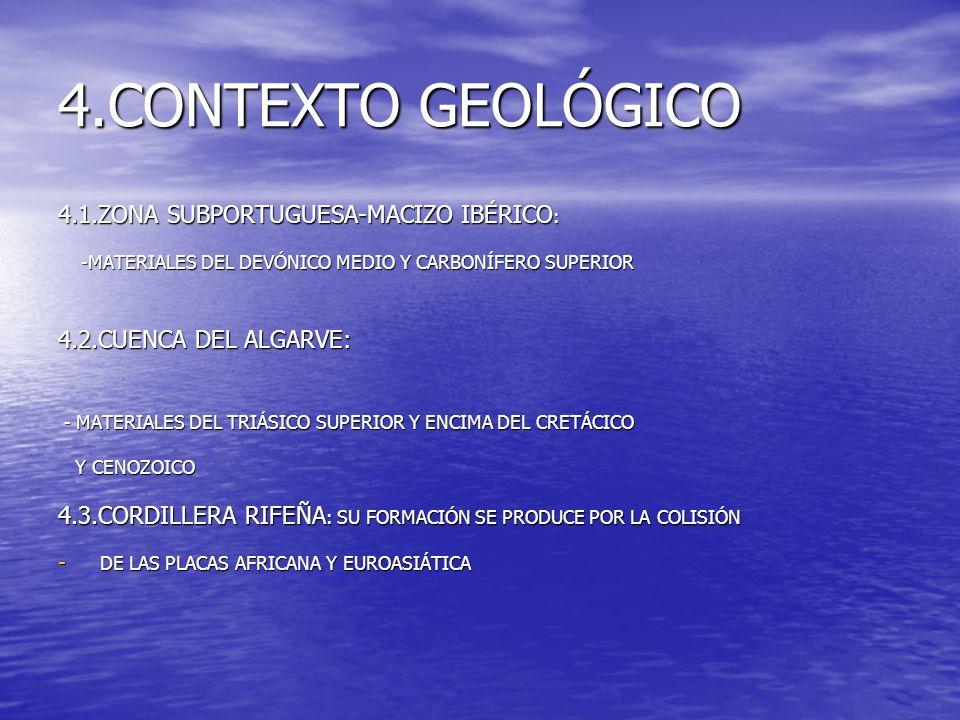 4.CONTEXTO GEOLÓGICO 4.1.ZONA SUBPORTUGUESA-MACIZO IBÉRICO: