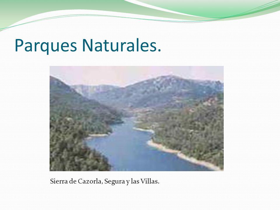 Parques Naturales. Sierra de Cazorla, Segura y las Villas.