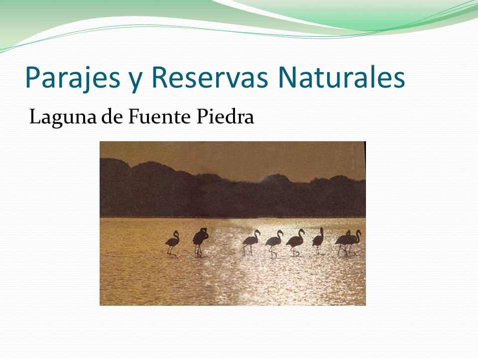 Parajes y Reservas Naturales