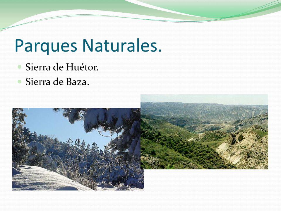 Parques Naturales. Sierra de Huétor. Sierra de Baza.